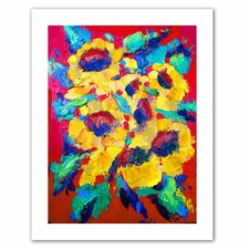 <strong>Art Wall</strong> Susi Franco 'Sunflower on Shingel Roof' Unwrapped Canvas Wall Art