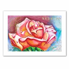 'Pink Rose Dew' by Susi Franco Painting Print on Canvas