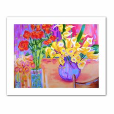 'Summer Flowers' by Susi Franco Painting Print on Canvas