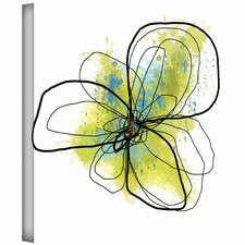 'Citron Petals II' by Jan Weiss Graphic Art Canvas