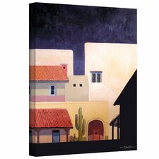 'Adobe Village Forms' by Rick Kersten Painting Print on Canvas