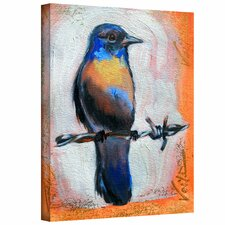 'Bird on a Wire' by Susi Franco Painting Print on Canvas