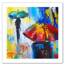 Susi Franco 'Red Umbrella' Unwrapped Canvas Wall Art
