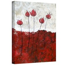 <strong>Art Wall</strong> Herb Dickinson 'Hot Blooms III' Unwrapped Canvas Wall Art