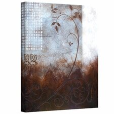 Herb Dickinson 'Splashy Umber II' Unwrapped Canvas Wall Art