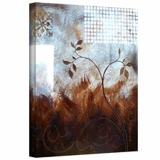 Herb Dickinson 'Splashy Umber ' Gallery-Wrapped Canvas Wall Art