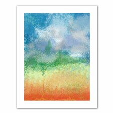 'Big Sky Calm' by Jan Weiss Graphic Art Canvas