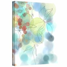 'Liquid Floral I' by Jan Weiss Painting Print Canvas
