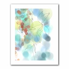 Jan Weiss 'Liquid Floral I' Unwrapped Canvas Wall Art