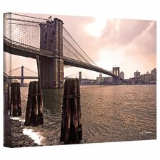 Linda Parker 'Brooklyn Bridge at Sunset' Gallery-Wrapped Canvas Wall Art