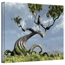 'Sitting Tree' by Cynthia Decker Graphic Art Canvas