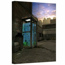'Phone Booth' by Cynthia Decker Graphic Art Canvas