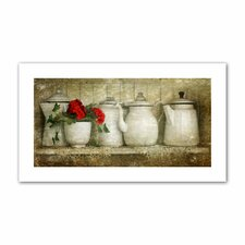 """""""Flower with Pots"""" by David Liam Kyle Canvas Photographic Print"""