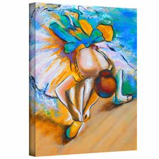 Susi Franco 'Interpretation of Dancer Tying Her Shoe by Edgar Degas' Gallery-Wrapped Canvas Wall Art