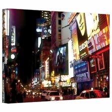 <strong>Art Wall</strong> Linda Parker 'NYC Bright Lights Broadway' Gallery-Wrapped Canvas Wall Art
