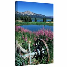 Kathy Yates 'Old Wheel and Brooks Lake' Gallery-Wrapped Canvas Wall Art