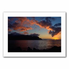 Kathy Yates 'Last Light Over Bali Hai' Unwrapped Canvas Wall Art