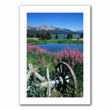 Kathy Yates 'Old Wheel and Brooks Lake' Unwrapped Canvas Wall Art