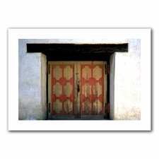 Kathy Yates 'Mission Door' Unwrapped Canvas Wall Art