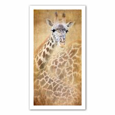 David Liam Kyle 'Giraffe' Unwrapped Canvas Wall Art