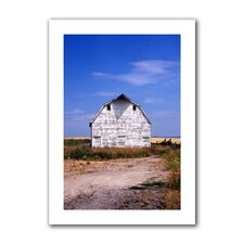 <strong>Art Wall</strong> Kathy Yates 'Old White Barn' Unwrapped Canvas Wall Art