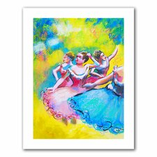 <strong>Art Wall</strong> Susi Franco 'Interpretation of Three Ballerinas by Edgar Degas' Unwrapped Canvas Wall Art