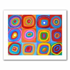 'Interpretation of Farbstudie Quadrate by Wassily Kandinksy' by Susi Franco Graphic Art Canvas