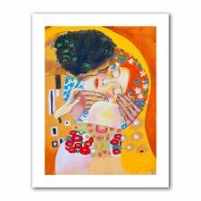 'Interpretation of The Kiss by Gustav Klimt' by Susi Franco Painting Print on Canvas