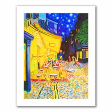 'Café Terrace by Vincent Van Gogh' by Susi Franco Painting Print on Canvas