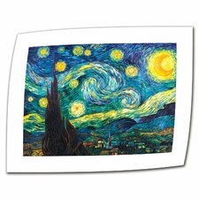"""""""Starry Night"""" by Vincent van Gogh Painting Print on Canvas"""