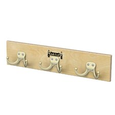 Wall Mount 3 Hooks Coat Rail