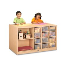 Mobile Storage Island 11 Compartment Cubby