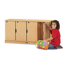 <strong>Jonti-Craft</strong> ThriftyKYDZ Stacking Lockable Lockers - 4 Sections