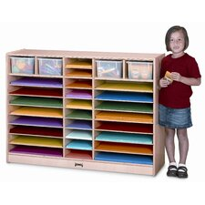 Mobile Paper Center 30 Compartment Cubby