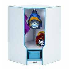 2-Section Toddler Corner Coat Locker with Step