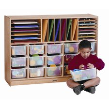 <strong>Jonti-Craft</strong> Sectional E-Z Glide Tray Mobile Unit w/ colored trays