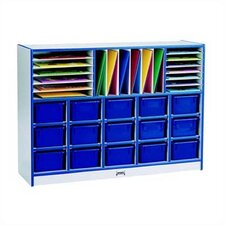<strong>Jonti-Craft</strong> Rainbow Accents Sectional Mobile Cubbie w/o trays