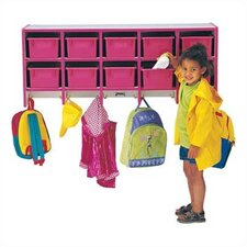 <strong>Jonti-Craft</strong> Rainbow Accents Coat Locker - Large Wall Mount