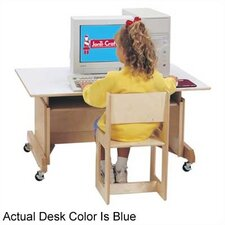 "<strong>Jonti-Craft</strong> 42"" W Computer Table - Blue"