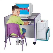 "<strong>Jonti-Craft</strong> ThriftyKYDZ 30"" W Single Computer Desk with Rainbow Accents"