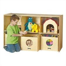 See-n-Wheel Shelf 6 Compartment Cubby