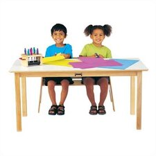 <strong>Jonti-Craft</strong> Large Multi-Purpose Rectangular Table - White