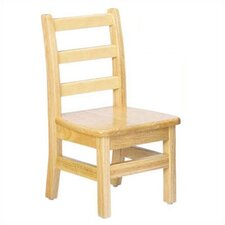 "KYDZ 12"" Wood Classroom Ladderback Chair (Set of 2)"
