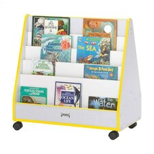 "30"" H KYDZ Rainbow Accents Mobile Book Display - Rectangular"