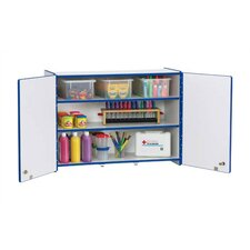 "<strong>Jonti-Craft</strong> KYDZ Rainbow Accents Lockable Wall Cabinet - Rectangular (35"" x 15"")"