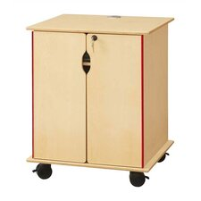 "KYDZ Lockable Presentation Cart - Rectangular (24"" x 23"")"