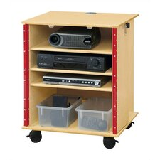 "<strong>Jonti-Craft</strong> KYDZ Lockable Presentation Cart - Rectangular (24"" x 23"")"