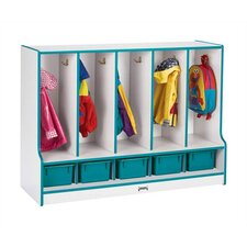 "<strong>Jonti-Craft</strong> KYDZ Rainbow Accents Coat Locker - 35"" High - Rectangular (48"" x 17.5"")"
