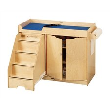 "<strong>Jonti-Craft</strong> KYDZ Changing Table with Stairs - Rectangular (22.5"" x 48"")"
