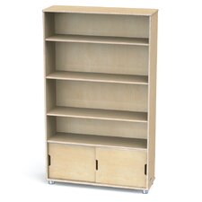 "TrueModern Four-Shelf 60"" Bookcase"